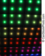 arcobaleno, discoteca, festa, illuminazione