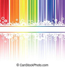 arcobaleno, fiori, zebrato