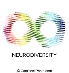 arcobaleno, loop., infinità, neurodiversity, simbolo.