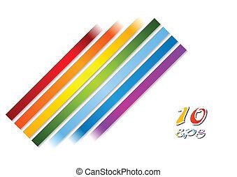 arcobaleno, luminoso, vettore, zebrato, fondo