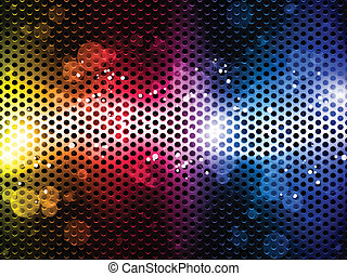 arcobaleno, neon, colorito, fondo, festa