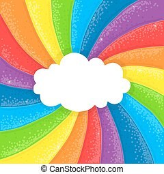 arcobaleno, nuvola, fondo