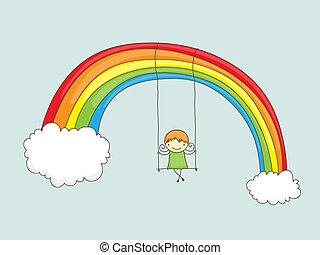 arcobaleno, oscillazione