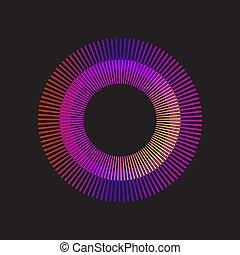 arcobaleno, pendenza, sunburst, cerchio, vettore