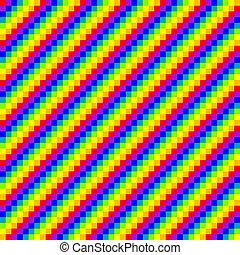 arcobaleno, seamless, fondo, pixel