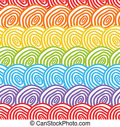 arcobaleno, seamless, fondo, scarabocchiare