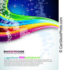 arcobaleno, spettro, fondo, volantini, opuscolo, o