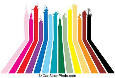 arcobaleno, splat