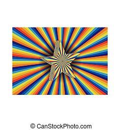 arcobaleno, starburst, fondo