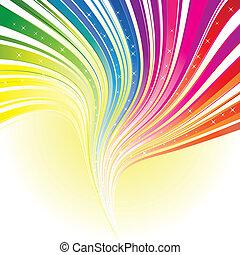 arcobaleno, stelle, colorare, astratto, striscia, fondo