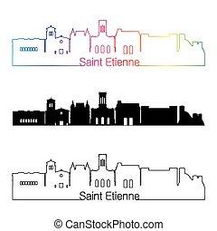 arcobaleno, stile, lineare, orizzonte, santo, etienne