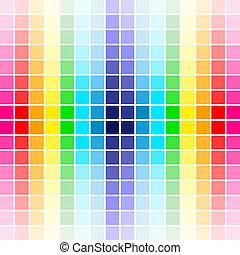 arcobaleno, tavolozza, colori