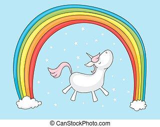 arcobaleno, unicorno