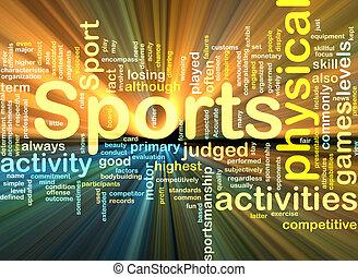 ardendo, fondo, attività sport, concetto