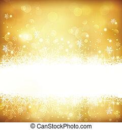 ardendo, fondo, luci, natale, dorato, stelle, fiocchi neve