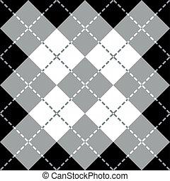 argyle, disegno, gray-white-black