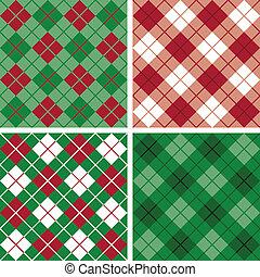 argyle-plaid, red-green, modello