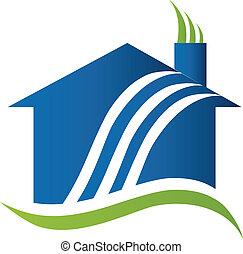 aria, logotipo, riciclaggio, casa