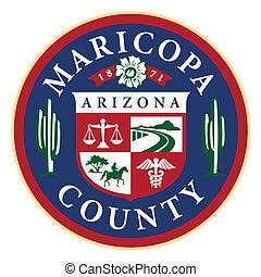 arizona, contea maricopa, stato, sigillo, (phoenix)