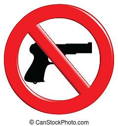 armi, proibito, segno