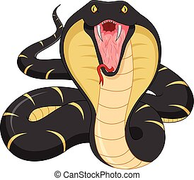 arrabbiato, serpente, cartone animato