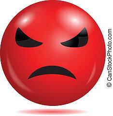 arrabbiato, smiley, emoticon