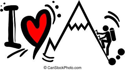 arrampicarsi, amore