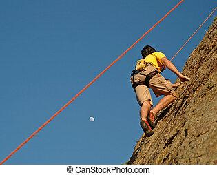 arrampicarsi, luna