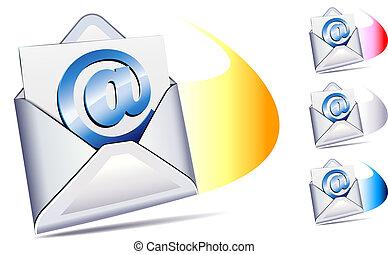 arrivare, email, spedito