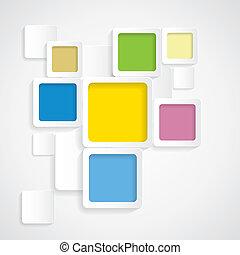arrotondato, colorito, graphi, -, vettore, fondo, profili di fodera, squadre