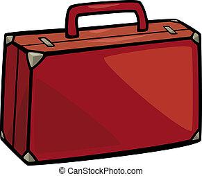 arte clip, cartone animato, illustrazione, valigia