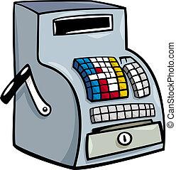 arte, clip, registro, contanti, cartone animato, fino, o