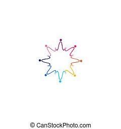 arte, isolato, bianco, grafica, logotipo, insieme, colorito, persone, simbolo, segno