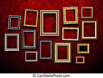 arte, ph, vector., cornice, gallery., foto