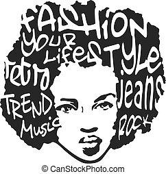 arte, progetto moda, pop, uomo