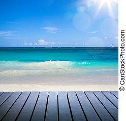 arte, spiaggia, vista