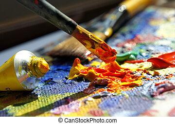 arte, tavolozza