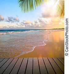 arte, vista, spiaggia