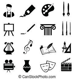arti, set, icona
