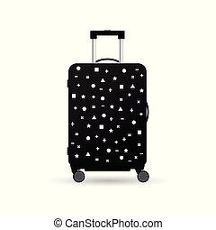 articolo, viaggiare, esso, illustrazione, borsa