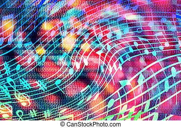 artificiale, concept:, intelligenza, computer, music?, crea