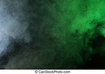 artificiale, red-green, fumo, luce nera, fondo