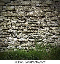 asciutto, parete, pietra