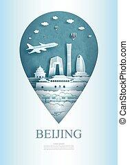 asia, architettura, perno, viaggiare, monumento, ancient., porcellana, beijing