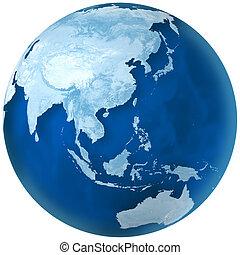 asia, australia, blu, terra