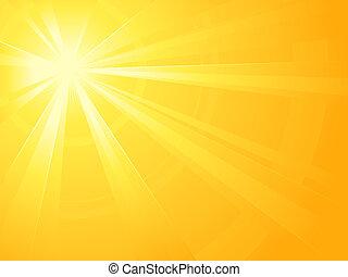 asimmetrico, luce sole, scoppio