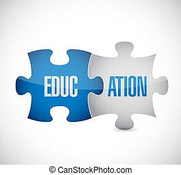 assabled., puzzle, educazione, pezzi