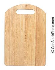 asse, bianco, legno, isolato, taglio