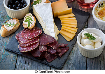 asse, formaggio affettato, carne