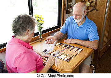 asse, gioco, seniors, gioco, rv